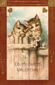 Vintage Cat Valentine Card