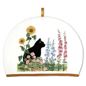 Tea Cozy w/Black Cat Designe