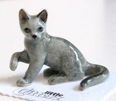 Russian Blue Little Critter Miniature Cat