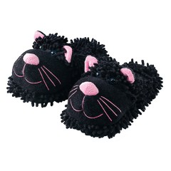 Black Cat Slippers from Aroma Home