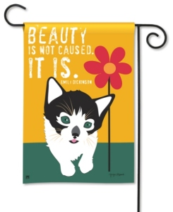 Cat Garden Flag- Beauty Is