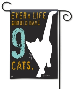 Cat Garden Flag- Nine Lives