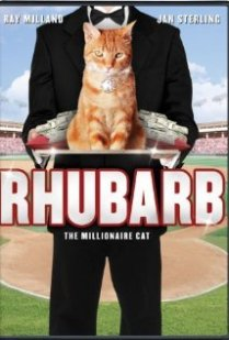 Movie poster for Rhubarb featuring Orangey the Cat.
