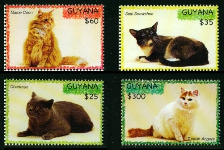 Cat Stamps from Guyana