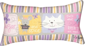 "Tapestry Pillow ""Sugar and Spice"""