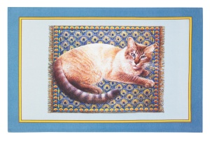 "Cat Cotton Tea Towel ""Meow Meow"""