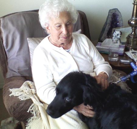 Shirley and dog Jet