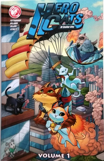 Hero Cats Comic Book Cover