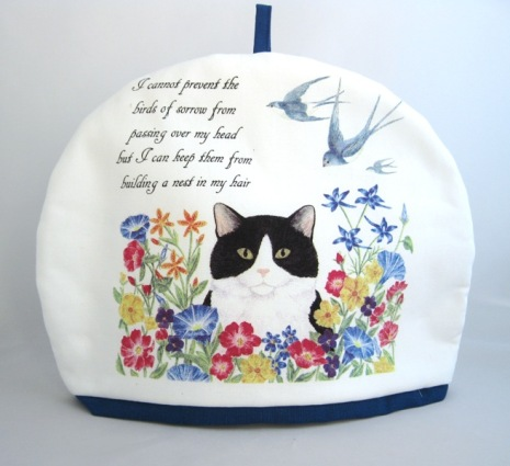 Cat & Swallowtails Tea Cozy