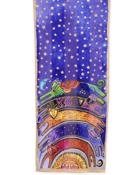 Laurel Burch Once In A Blue Moon Scarf, lbs201