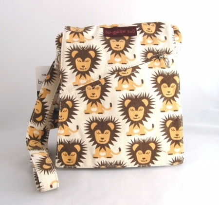Bungalow 360 Small Messenger Bag, Lion design