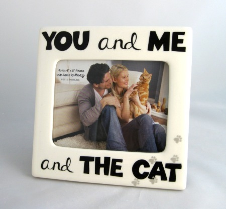 You and Me and The Cat Ceramic Picture Frame